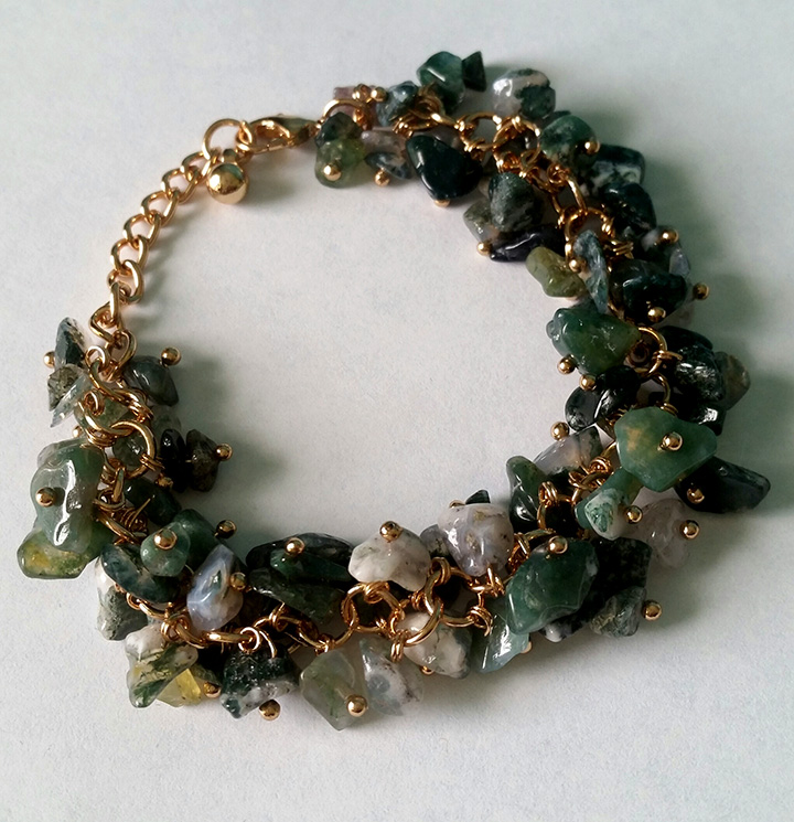 pyrite products agate stone and with bracelet accent jewelry moss lily grande gilded